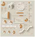 Vector infographic elements set of the d charts pie charts and other design Royalty Free Stock Images