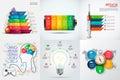 Vector infographic elements.