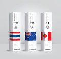 Vector infographic Modern box national Design Minimal style. Royalty Free Stock Photo