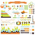 Vector infographic orange green this is file of eps format Stock Photo