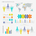 Vector infographic presentation templates