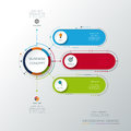 Vector infographic template with 3D paper label, integrated circles. Business concept with options.