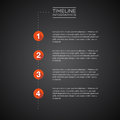Vector infographic timeline report template numbers Royalty Free Stock Photos
