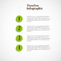 Vector infographic timeline report template numbers Stock Photography
