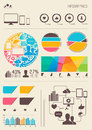 Vector infographics information graph and statistic elements Royalty Free Stock Images