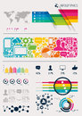 Vector infographics vectors charts and infomation elements Stock Photo