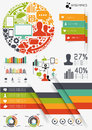 Vector infographics vectors charts and infomation elements Stock Image