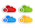 Vector information clouds set on white background Stock Photography
