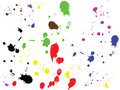 Vector ink drops. Royalty Free Stock Photo