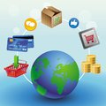 Vector internet shopping concept Stock Images