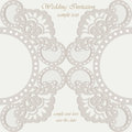 Vector invitation card ornamental lace with damask elements