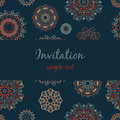 Vector invitation with floral ornament