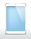 Vector ipad mini white realistic illustration Stock Photography