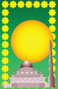 Vector of Islamic mosque Stock Photography