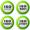 Vector iso certification icon illustration of set icons on white background Royalty Free Stock Photography