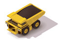 Vector isometric haul truck Royalty Free Stock Photo