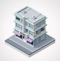 Vector isometric hotel Stock Photos