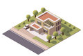 Vector isometric modern house