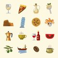Vector italy icons set this is file of eps format Stock Photos