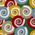 Vector japanese pattern with umbrellas Royalty Free Stock Photo