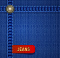 Vector jeans background with red label Royalty Free Stock Photo