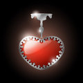 Vector jewel heart illustration of red Stock Images