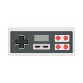 Vector joystick icon illustration. Geek gaming retro gadget from Royalty Free Stock Photo