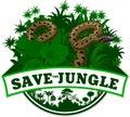 Vector Jungle Emblem with anaconda