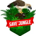 Vector Jungle Rainforest Emble...