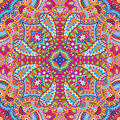 Vector kerchief pattern paisley of pillow or Royalty Free Stock Photos