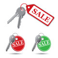 Vector keys on a white background Stock Image