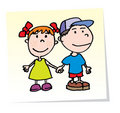 Vector Kids Royalty Free Stock Images