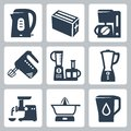 Vector kitchen appliances icons set Royalty Free Stock Photo