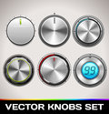 Vector knobs set for web and mobile Stock Image