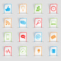 Vector labels icons Stock Photography