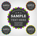 Vector labels and stickers Royalty Free Stock Image