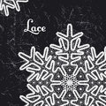 Vector lace snowflake style vintage handmade lace Royalty Free Stock Photo