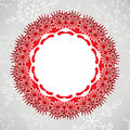 Vector lace and snowflakes Stock Photography