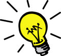 Vector lamp bulb Royalty Free Stock Photo