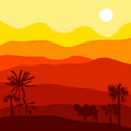 Vector landscape with camel