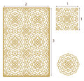 Vector Laser cut panel, the seamless pattern for decorative