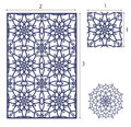 Vector Laser cut panel, the seamless pattern for decorative pane