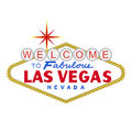 VECTOR: LasVegas sign at day (EPS format available) Royalty Free Stock Photography