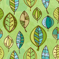 Vector leaf seamless pattern. Abstract nature Royalty Free Stock Photo