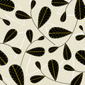 Vector leaf wallpaper Royalty Free Stock Images