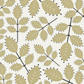 Vector leaf wallpaper Royalty Free Stock Image