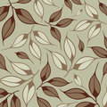 Vector leaf wallpaper Stock Photography