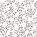 Vector leaves green sketch vector illuatration cartoon style background pattern