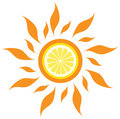 Vector lemon sun Stock Image