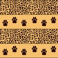 Vector leopard background traces Royalty Free Stock Photography